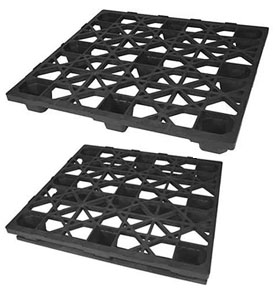 48 x 45 plastic export pallet with or without runners