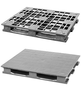 48 x 40 open and closed deck reusable plastic pallet